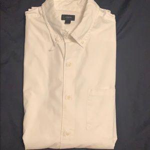JCrew white long sleeve shirt